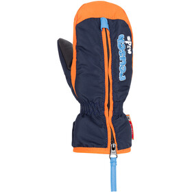 Reusch Ben Mitones Niños, dress blue/orange popsicle